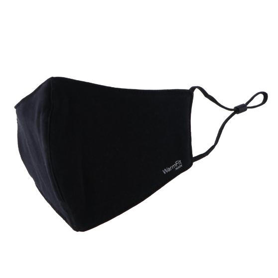 不織布マスク/洗える抗菌マスク「WarmFit MASK(ウォームフィットマスク)」/1枚入/ふつう~大きめサイズ/ブラック