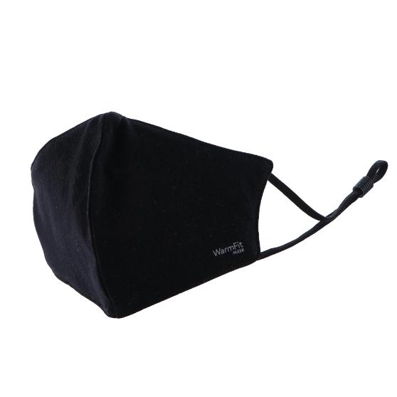 不織布マスク/洗える抗菌マスク「WarmFit MASK(ウォームフィットマスク)」/1枚入/小さめサイズ/ブラック
