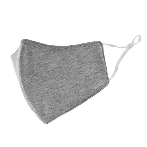不織布マスク/洗える抗菌マスク「WarmFit MASK(ウォームフィットマスク)」/1枚入/ふつう~大きめサイズ/グレー